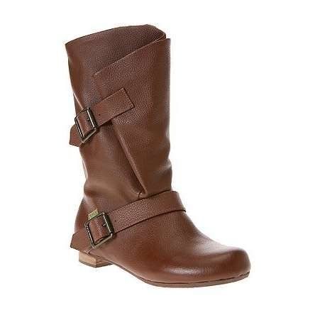 Brown boots with buckles