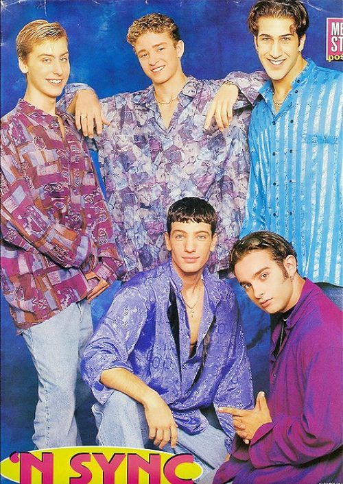 horrible hair. horrible clothes. horrible poses. But yet I had this on my wall growing up. ha. i loved NSYNC!