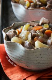 Slow Cooker Apple Cider Beef Stew via Baked By Rachel
