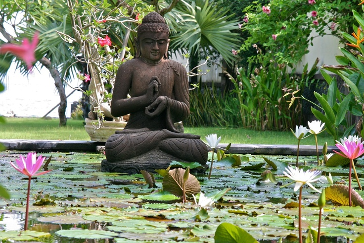 Buddha in the pond of Semadhi in Pemuteran