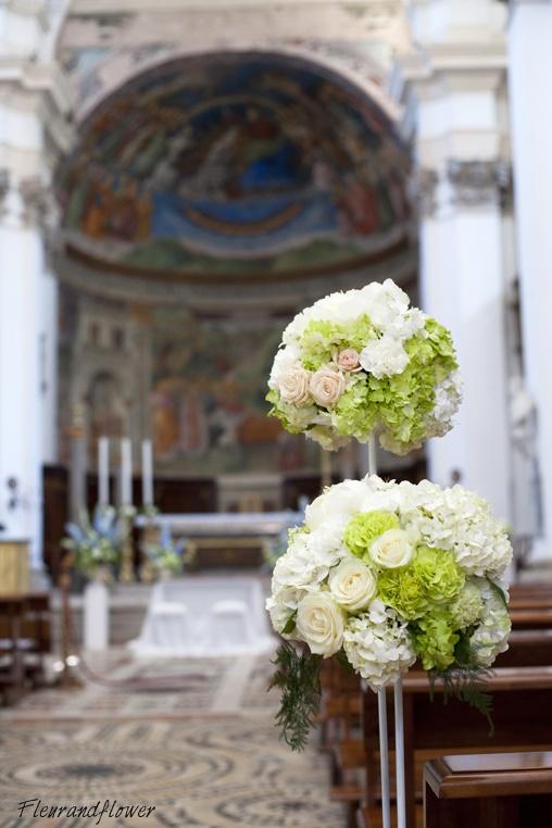 Addobbi floreali per il matrimonio, colori AVORIO e VERDE MELA - Forum Matrimonio.it