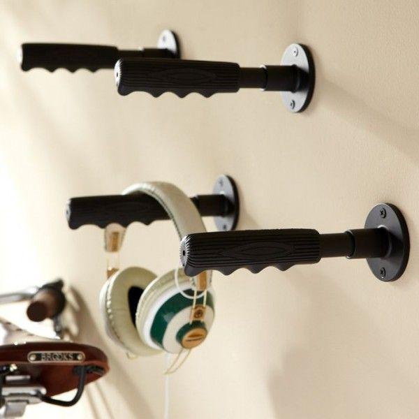Black Novelty Bike Handle Hooks | Home decor | Pinterest