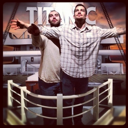 Zdeno Chara and Andrew Ference, having their own Titanic moment.