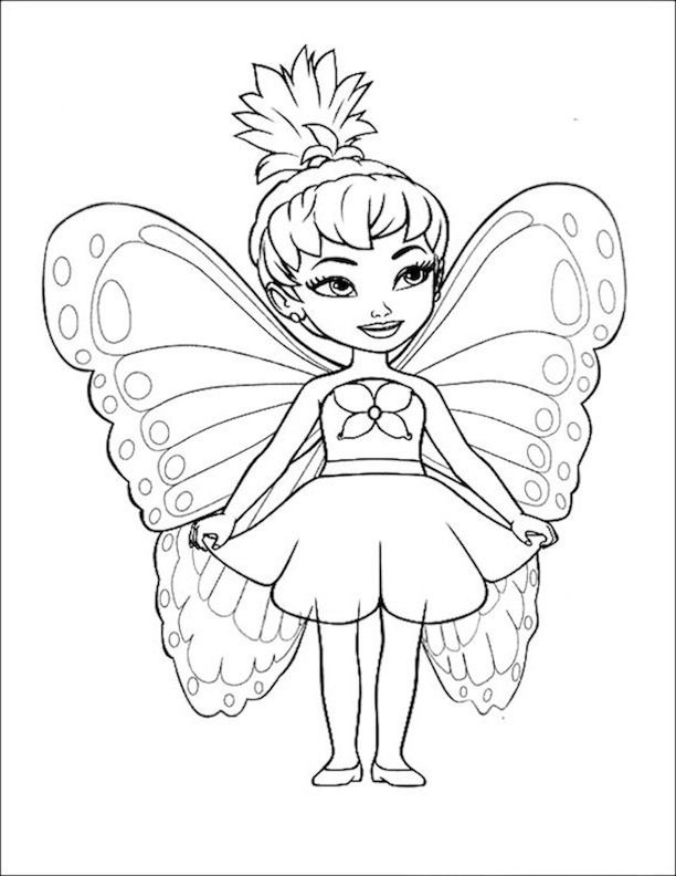 fairy 9 coloring pages pinterest