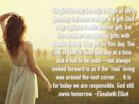Elisabeth Elliot on singleness.