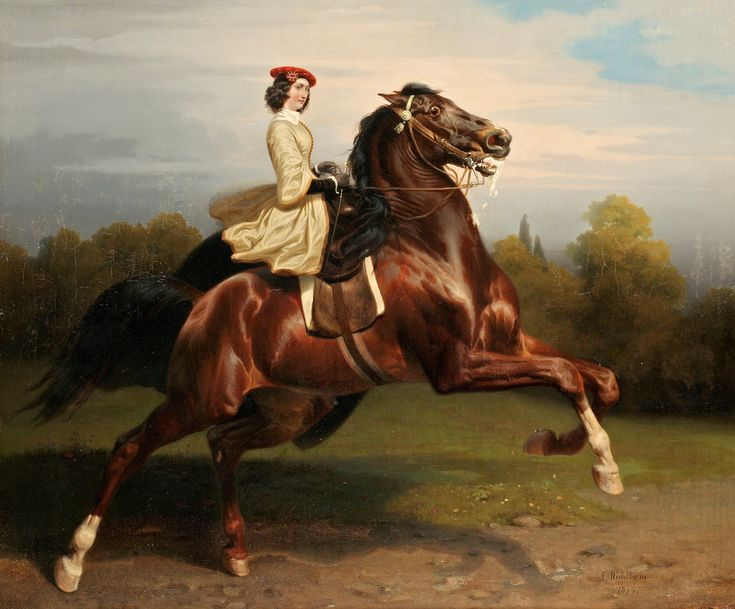Carl Wahlbom - Ryttarinna - 1855