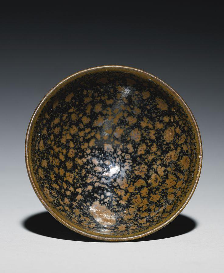 A russet-splashed black-glazed bowl, Northern Song Dynasty