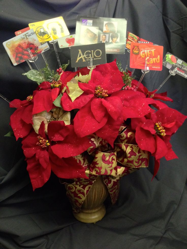 Gift card bouquet reach for the stars auction 2013