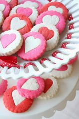 Two-Toned Heart Cookies