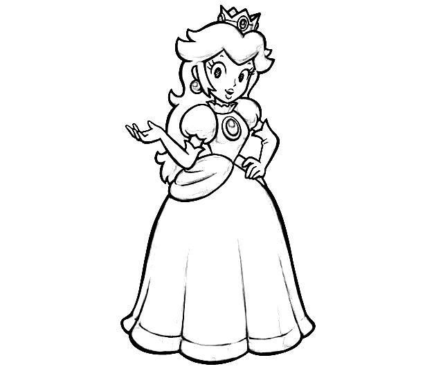 Princess Peach Coloring Pages To Print Free - Coloring Home | 533x640