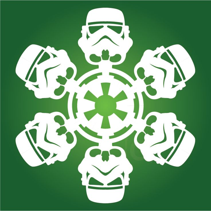Stormtrooper snowflake templates!