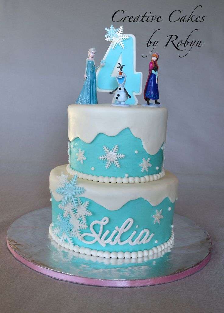 Children's Birthday Cakes - Created for a Frozen themed birthday