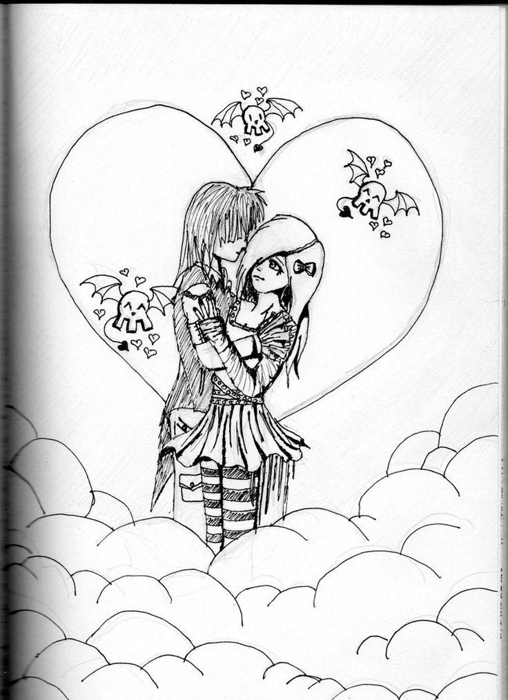 emo love  drawing  drawings (emo)  pinterest