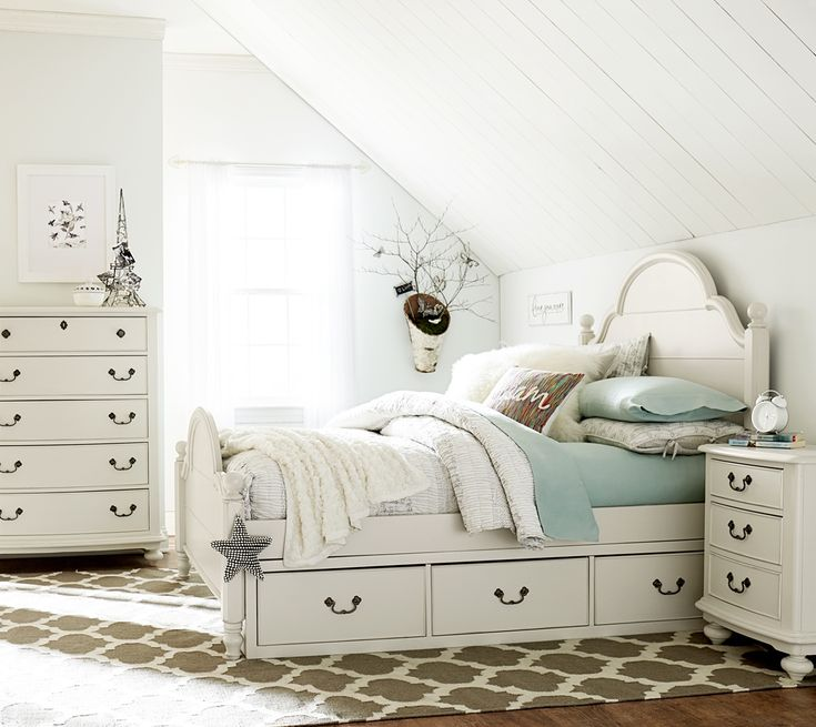 Adorable kids' room - Wendy Bellissimo at Schneiderman's Furniture #Bellissimo #bedroom #kids #cottage #white
