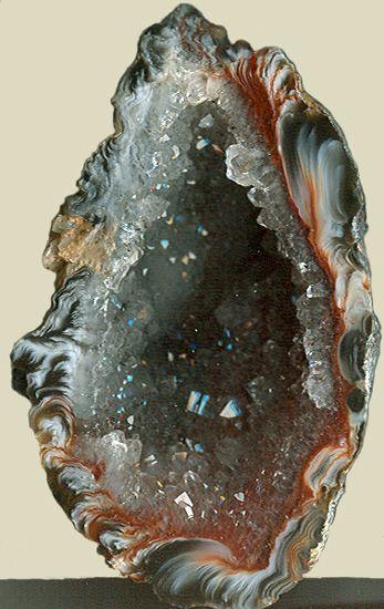 Chalcedony Quartz geode
