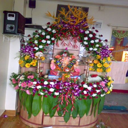 ganpati flower decoration in home decoration for home