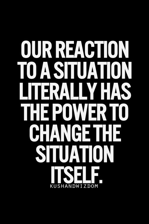 change the situation
