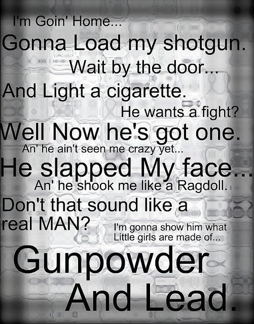 gunpowder and lead= miranda lambert