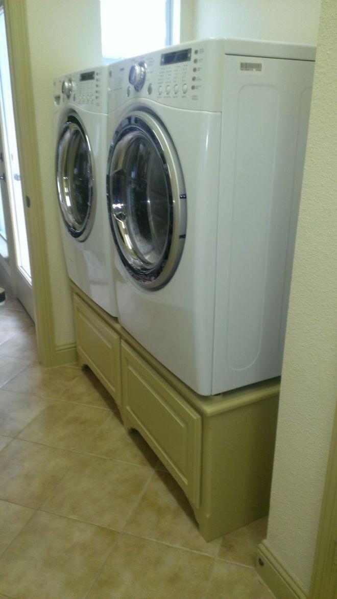 Diy washer and dryer pedestal diy pinterest
