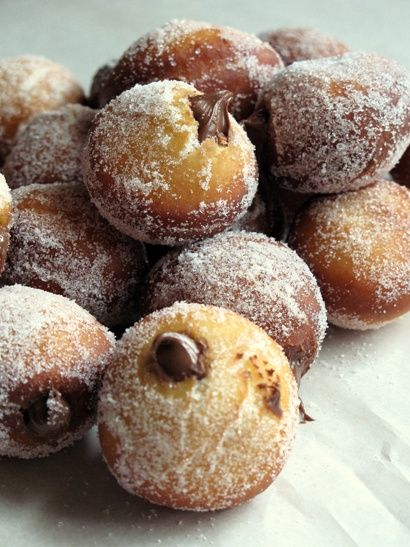 Nutella filled doughnuts! They look unbelievably delicious!!! #wedding #nutella