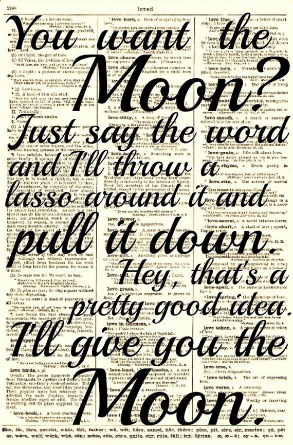 Lasso the Moon, It's a Wonderful Life Quote, Dictionary Print, Buy 2 Get 1 Free, Art Print, Wall Art, Wall Decor on Etsy, $10.00