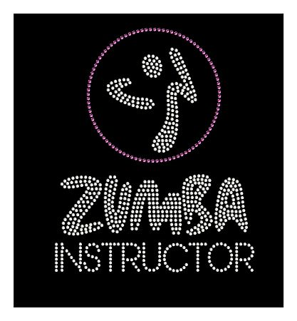 Zumba Instructor Rhinestone Transfer. So want this for everything I wear.  Love, love, bling.