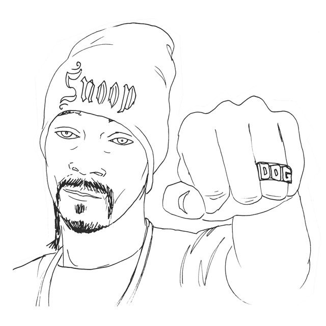 snoop dogg colouring pages