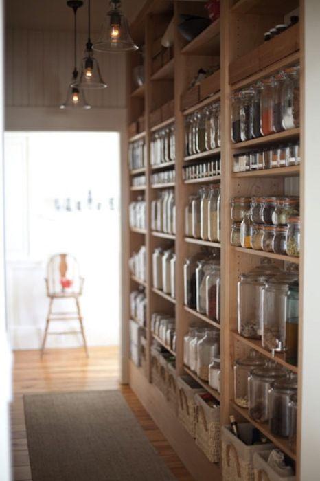 open shelf food storage