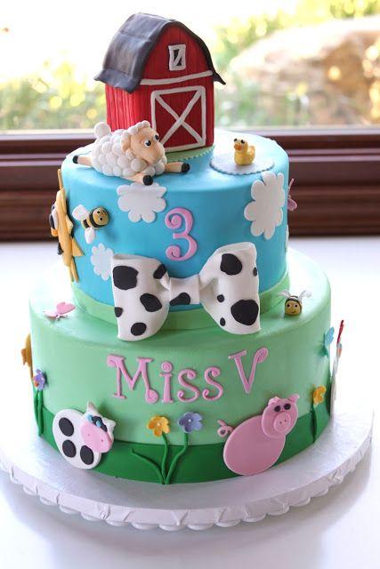 Southern Blue Celebrations Farm Themed Cake Amp Cake Pop Ideas