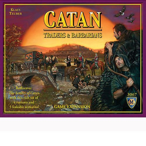 Immerse yourself in The Settlers of Catan, with this deeply rich set of 4 variants and 5 compelling linkable scenarios! In Catan: Traders & Barbarians, you'll find lots of cool new ways to explore Klaus Teuber's award-winning game series. You can now play with just 2 players!  $44.99  http://www.calendars.com/Strategy-and-Adventure-Games/Settlers-Of-Catan-Traders-and-Barbarians-Expansion/prod1279178/?categoryId=cat430016=cat430016#