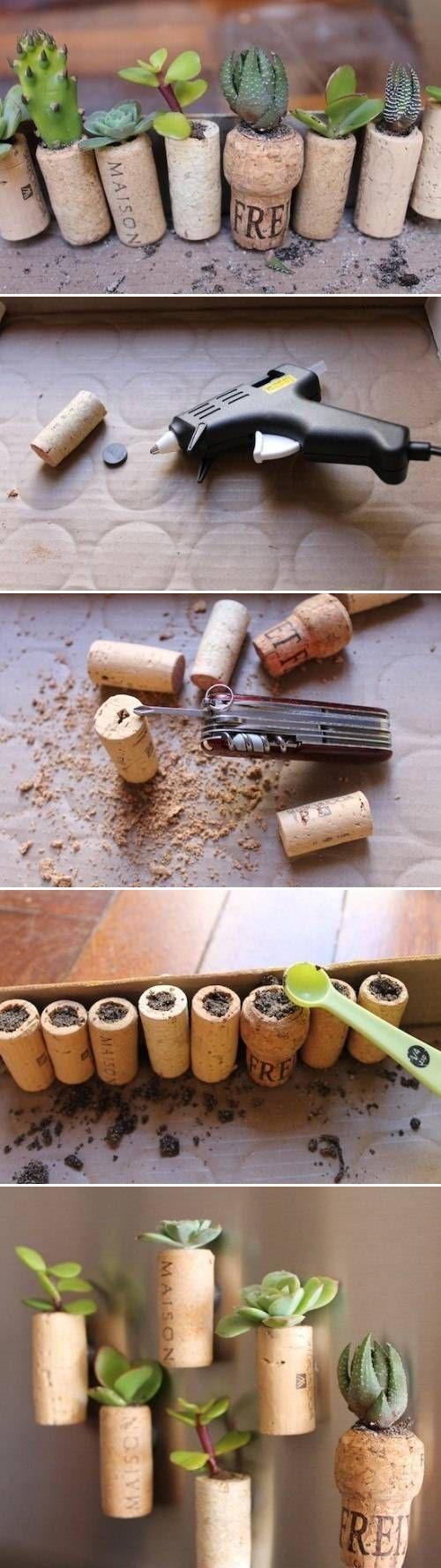 DIY Wine Cork Garden DIY Wine Cork Garden
