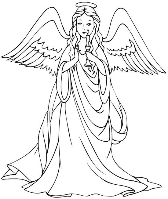 beautiful christmas angel coloring page coloring pages pinterest