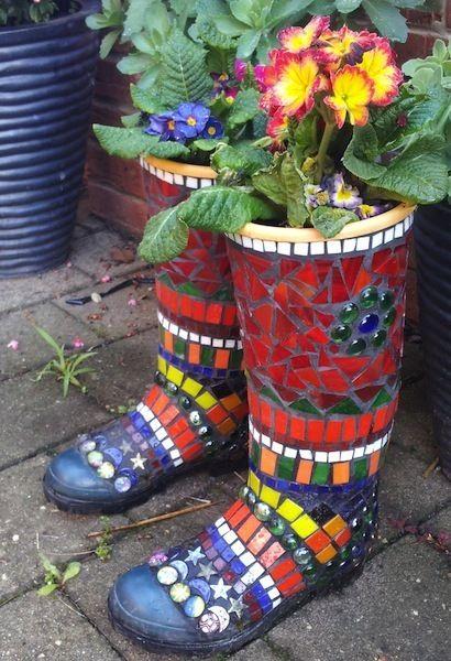 Gumboots Mosaic por Barbara Creen