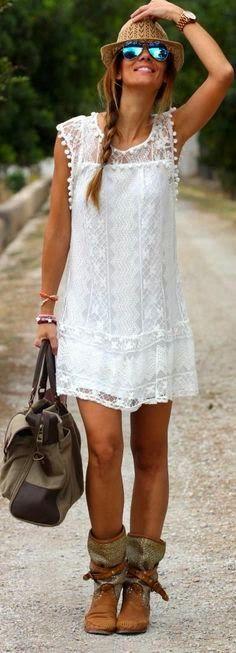 Los mejores equipos del vestido blanco de verano