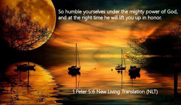 1 Peter 5.6 New Living Translation (NLT)