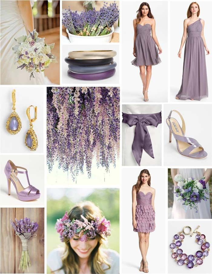 Looking for some lavender wedding inspiration? We love all of the wedding fashion and accessories in this collage! @Nordstrom Weddings