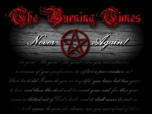 The Burning is the on our main page this month. We often forget about our heritage. We cannot forget it because if we do, there is a chance it will repeat itself. Witches are no different from anyone else. We are not evil. We are not devil worshipper. We are just plain, everyday people that want to get along, live in peace and worship the way we chose.