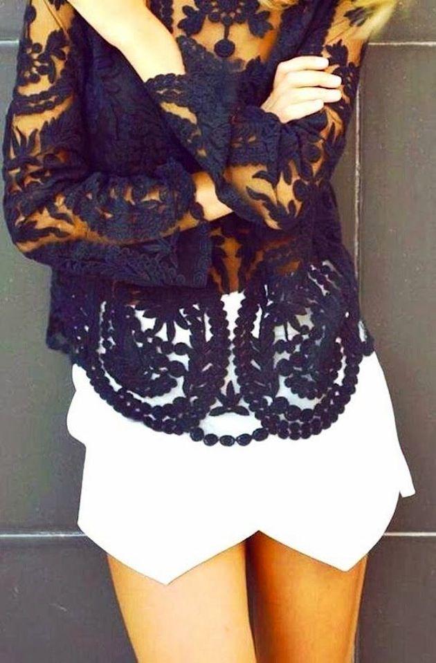 Black lace | My Fash Avenue