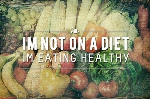 Let's all eat healthy