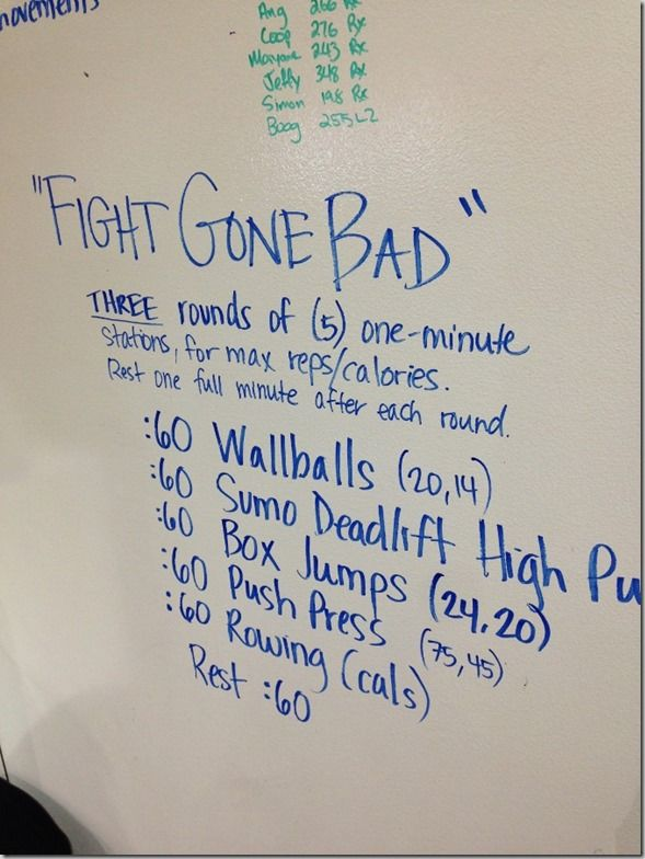 fight gone bad workout