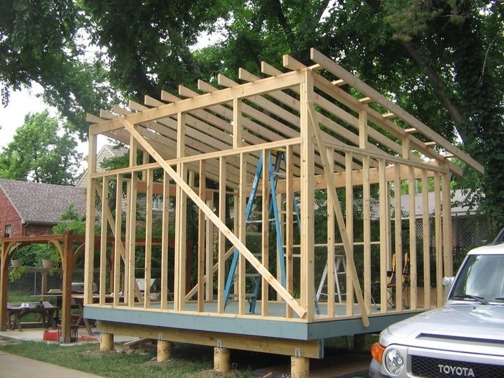 how to build a lean to shed roof
