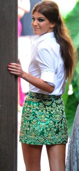 Bianca Brandolini - brocade skirt