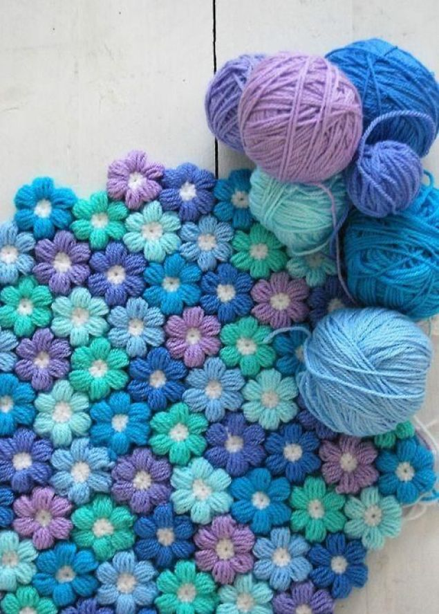 Crochet flowers. Free pattern and tutorial :)