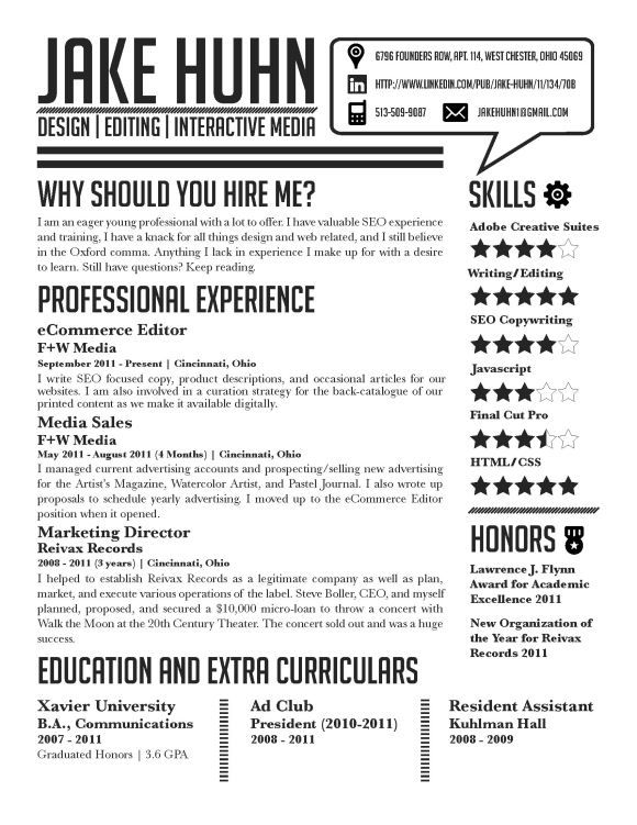How To Write A Creative Resume | Resume Format Download Pdf