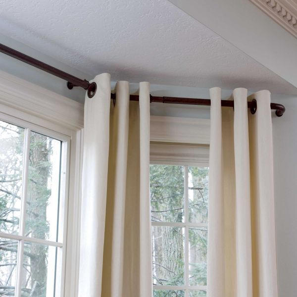 Bay Window Curtain Rods For The Home Pinterest