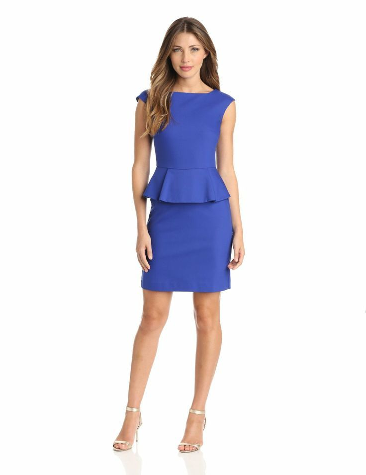 French Connection Womens Peplum Dress