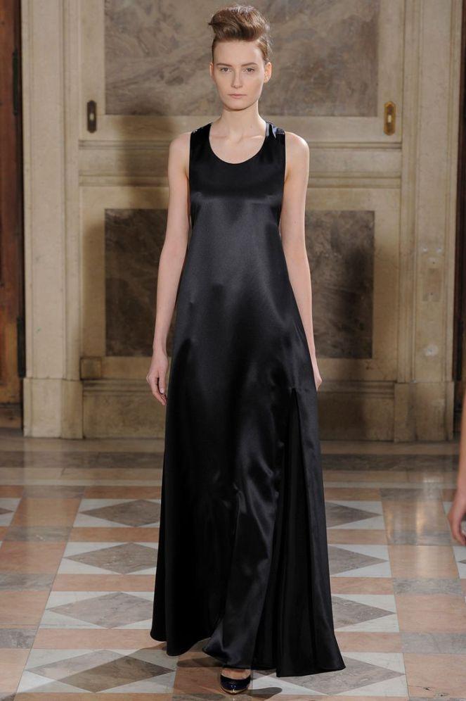 Bouchra Jarrar haute couture 2014, leather dress, black maxi dress