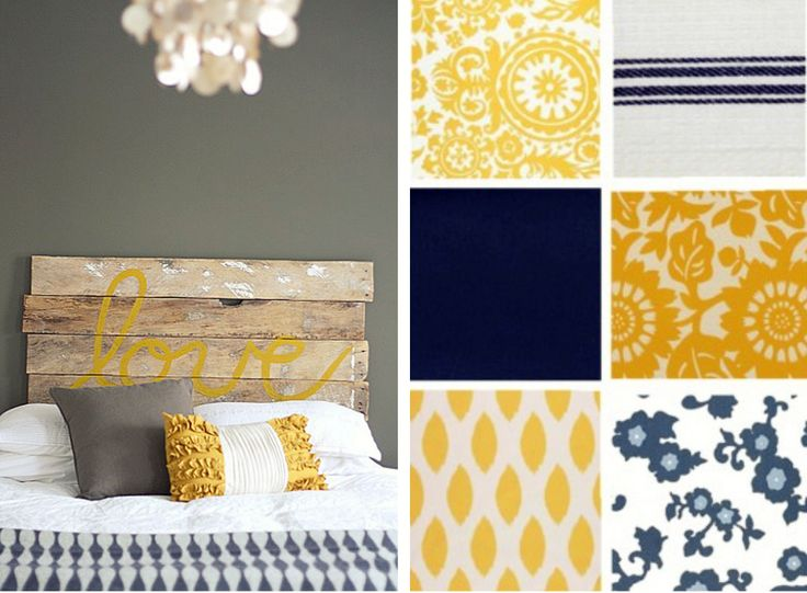 Yellow, Navy and Gray! Future Dining Room colors?? Hmmm . . . already have the gray walls. Note to future self: All shopping trips will now revolve around the colors yellow and navy.