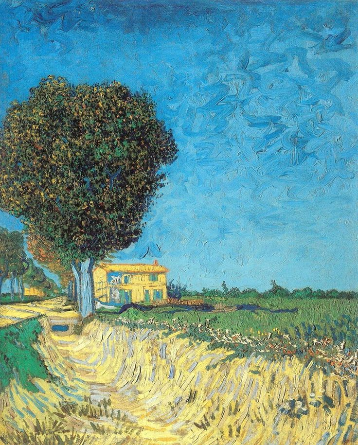 Vincent van Gogh (Dutch, Post-Impressionism, 1853-1890): A Lane near Arles (Landscape with Edge of a Road), 1888. Oil on canvas, 61 × 50 cm (24 × 19.7 inches). Pommersches Landesmuseum, Greifswald, Germany