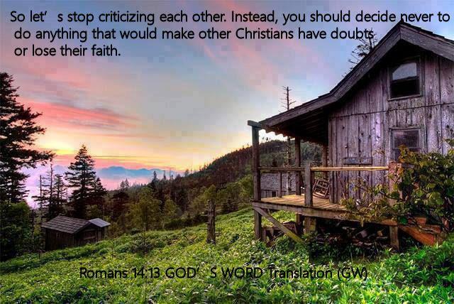 Romans 14.13 GOD'S WORD Translation (GW)
